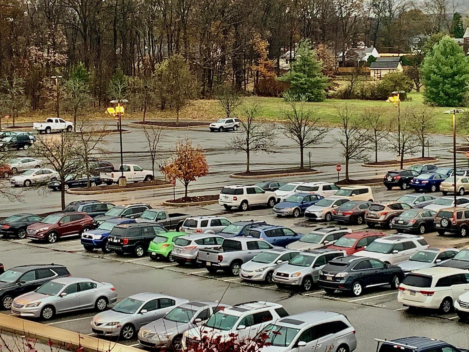 Empty parking spots such as these in S-Lot at NPHS have been a daily sight for the parking-starved members of the junior class.