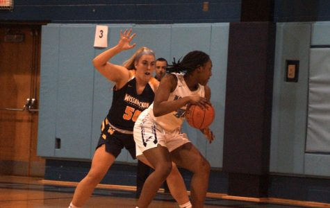 Val McGriff in the post. She finished the game with 20 points.