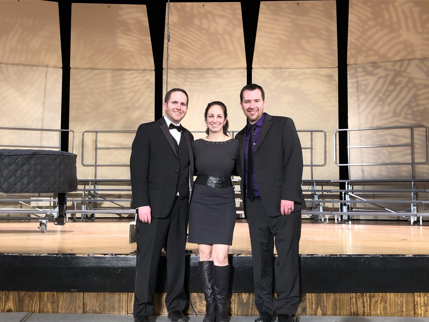 (From left to right) Matthew Klenk, Jennifer Klenk, and Michael Klenk at the NPHS choral showcase on January 14th, 2020