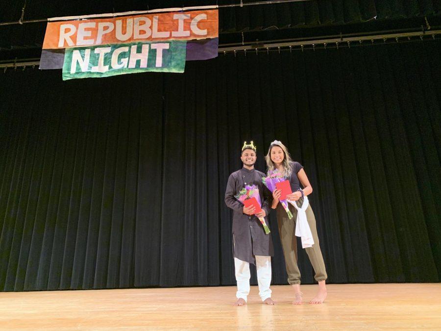 This years Mr. and Mrs. Rep Knight Jimmy Patel and Isha Bhatt.