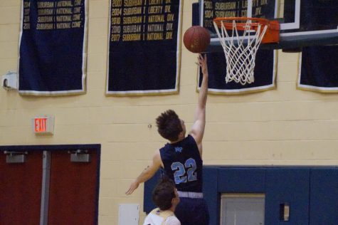 Easy 2 for #22: Mike Chaffee scores a layup in North Penn