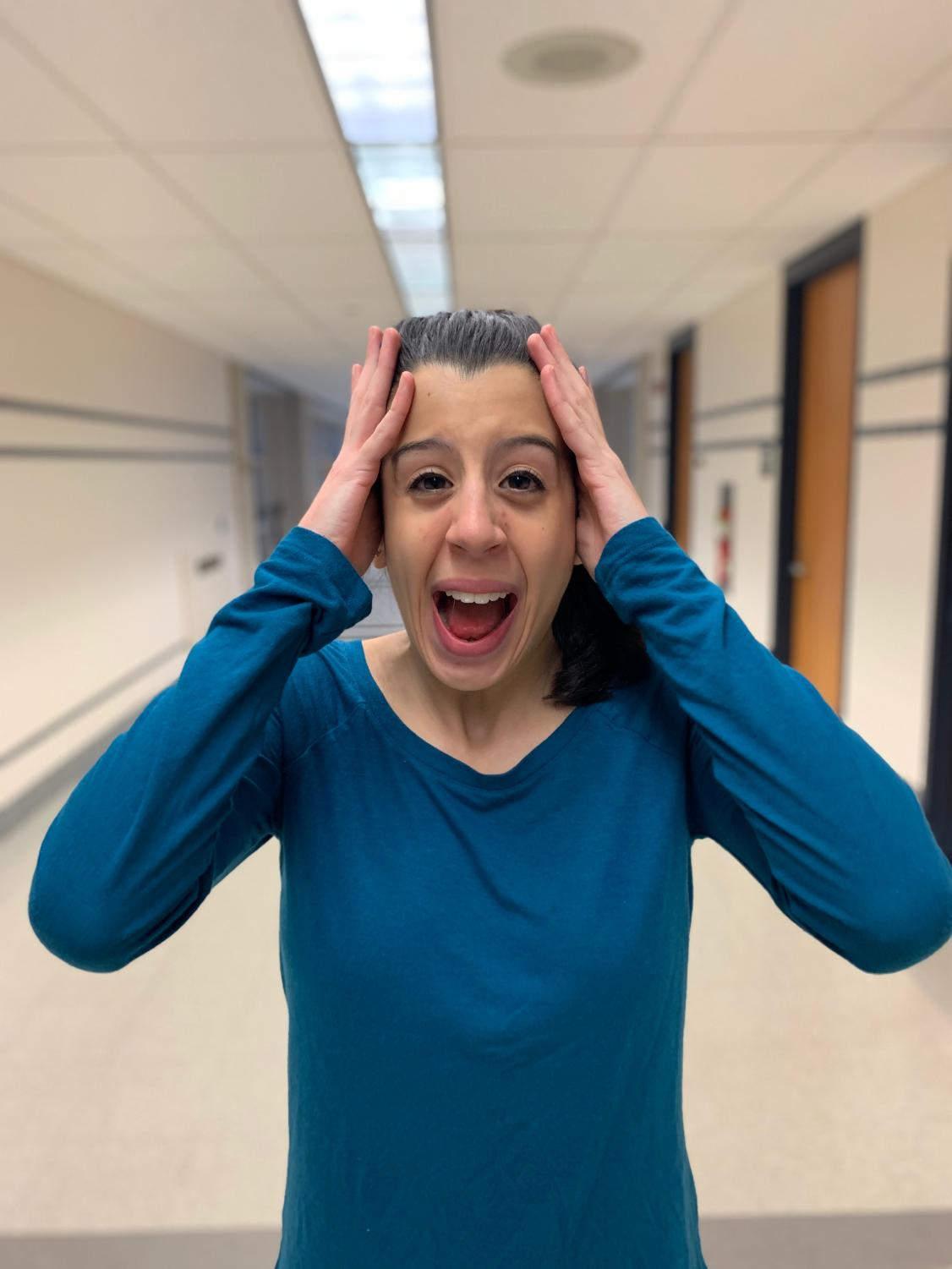 KC Editor Angela Tessitore letting out some pent up frustration-we all know the feeling!