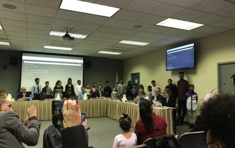 Board recognizes students at February action meeting