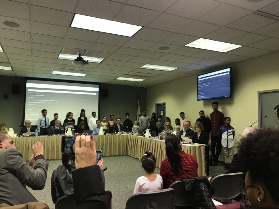 Finalists+from+the+2020+Black+History+Oratorical+Competition+are+recognized+by+the+School+Board.