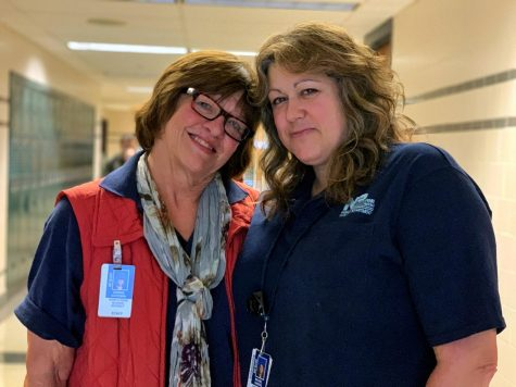 Debbie Goodwin (Left) and Rachel Garges (Right) have been coworkers and best friends for 23 years.