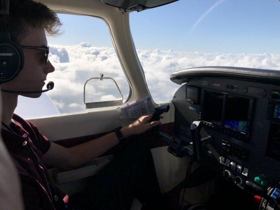 Flying high in the sky, Schafsteller discovered his passion for flying planes.