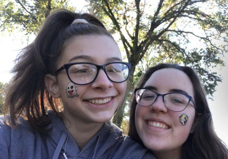 Jessica Mitchell (right) with fellow Senior Bella Mendez.