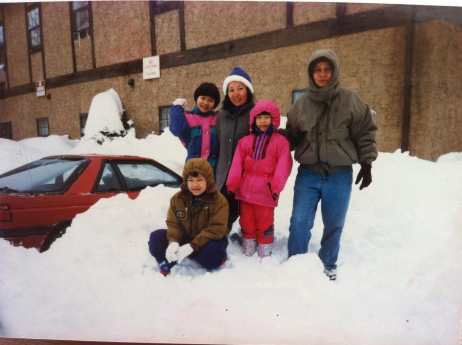 The first winter when Huynh and her family were in the United States.