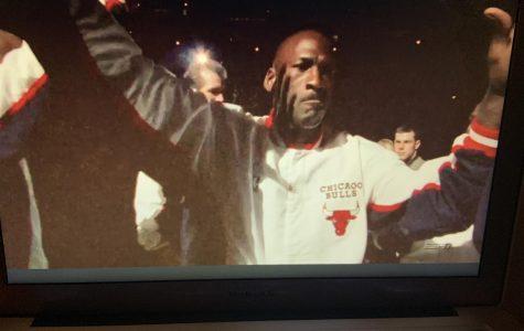 All the lights shine on Michael Jordan and the Bulls during their last championship run.