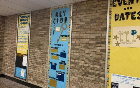 The hallways at North Penn High School proudly display club announcements for some of the many clubs and activities available to students. During the pandemic shutdown, while learning has become virtual, replacing the in person interaction of clubs and activities has been more difficult.