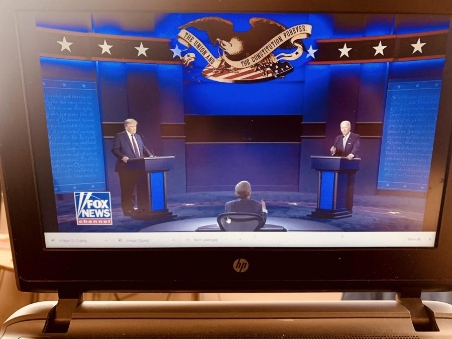 ROUND+1%3A+Pres.+Trump+and+Vice+Pres.+Biden+square+off+in+the+first+2020+debate+televised+on+FOX