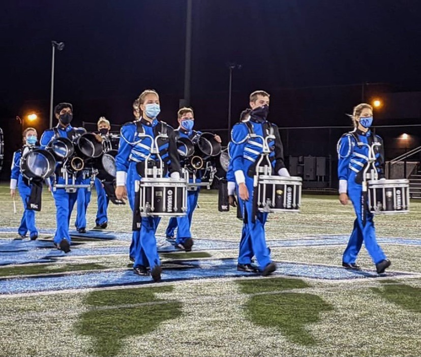Despite the challenges they have to face due to COVID-19, the North Penn Marching Knights are kicking off the year with musical and visual excellence.