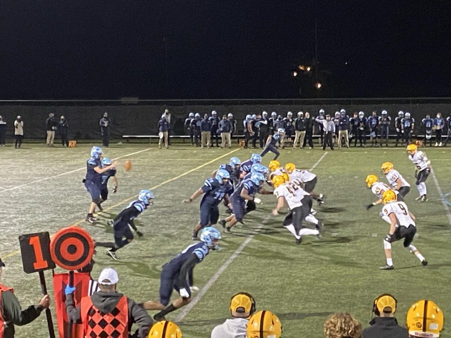 North+Penn+takes+on+CB+West+on+Friday%2C+October+16+at+NPHS.+The+Knights+had+little+trouble+with+the+Bucks+under+the+Friday+night+lights.+