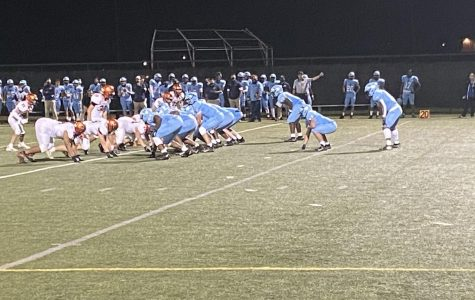 The North Penn Knights lineup against the Pennsbury Falcons during their home opener on October 9, 2020 at North Penn High School's turf field.
