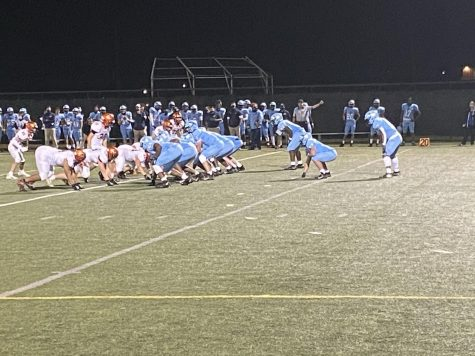 The North Penn Knights lineup against the Pennsbury Falcons during their home opener on October 9, 2020 at North Penn High School