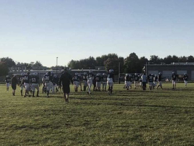 The Knights getting ready for their first matchup against the Neshaminy Redskins
