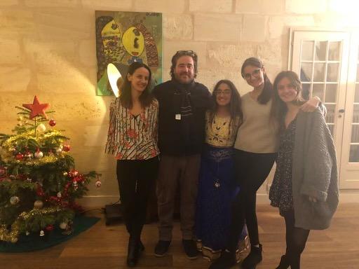 Chhugani with her host family (L-R host mom, host dad, Chhugani, host sisters).