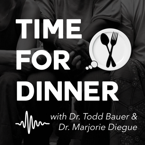 Diegue and Bauer serving new conversations at the dinner table