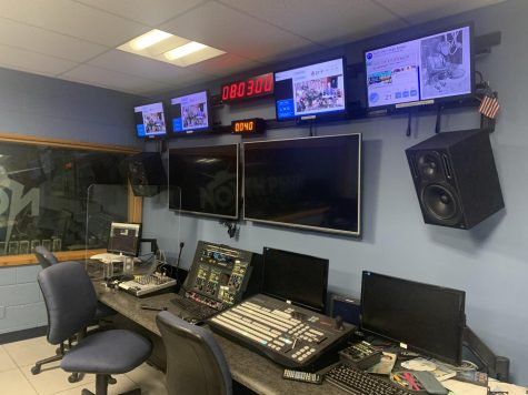 Ready Camera 2... The NPTV Control Room awaits the return to a full crew for its productions, but in the meantime Mornings and other NPTV programs have carried on in new, pandemic adjusted ways.
