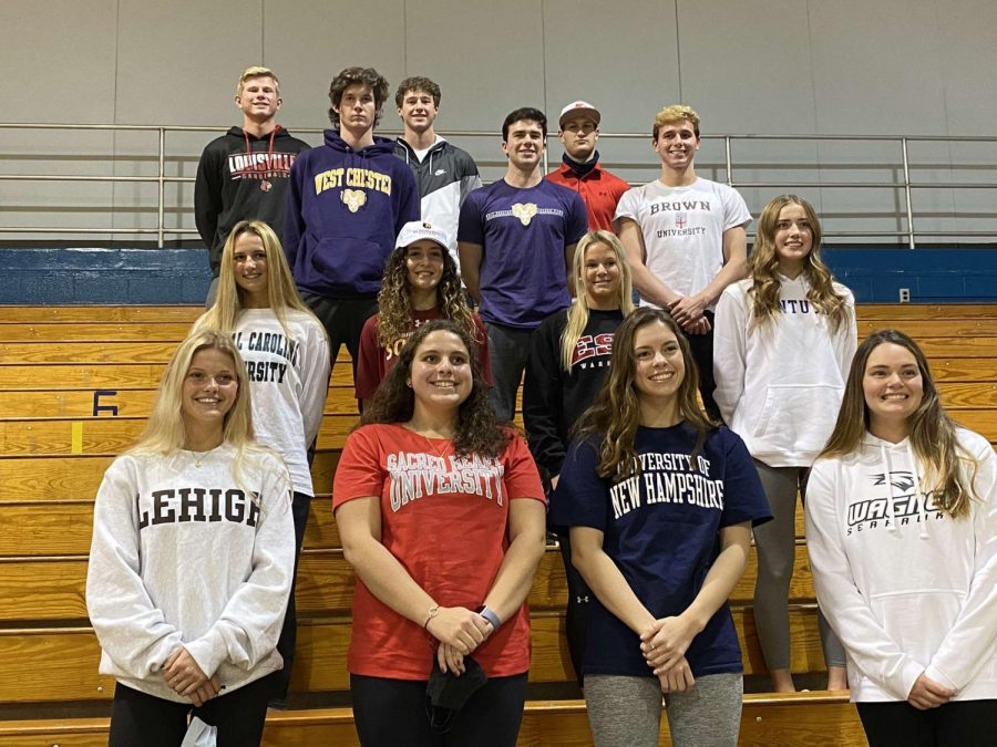 On+Thursday%2C+November+12th%2C+a+total+of+14+North+Penn+seniors+signed+their+national+letters+of+intent+to+their+respected+colleges.