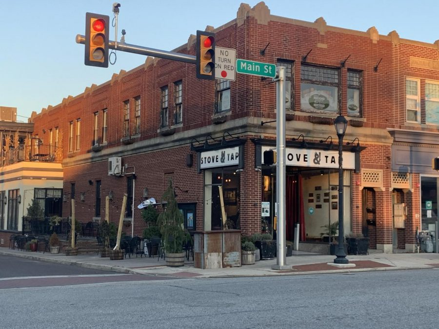 In the center of Lansdale's Main St business district is Stove and Tap, offering indoor and outdoor dining