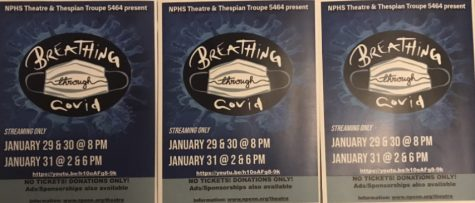 "NPHS Theatre and Thespian Troupe #5464 is proud to present ""Breathing Through COVID"" this weekend."