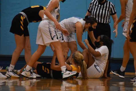 Close but just short... The NP girls basketball team battled hard all night but fell just short to CB West on Friday, January 29, 2021.