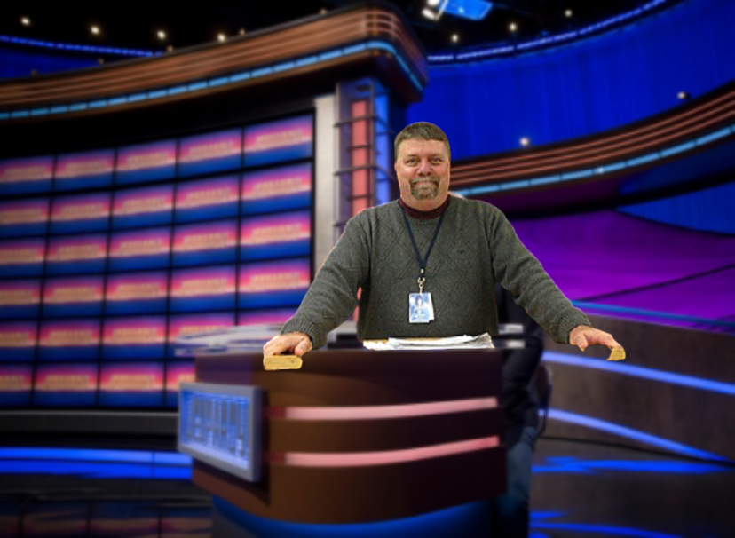 This... is... Brumbaugh! Sam Brumbaughs NPTV fame has led him to California and the set of Jeopardy!