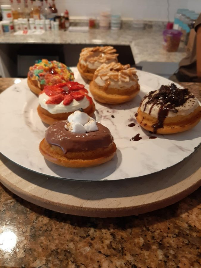 Just a few of the donut offerings from Woah Nutrition.