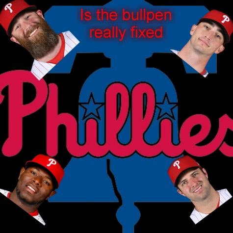 Phillies players Archie Bradley (top left), Hector Neris (bottom left), Connor Brogdon (top right), and David Hale (bottom right).