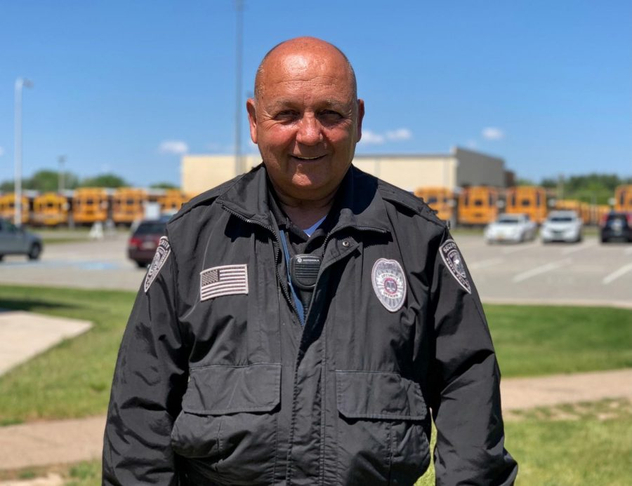 After retiring from the military and the Towamencin police department, Ed Wosiak is saying his third goodbye, this time from NPHS' Security team.