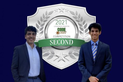Shreyash Ranjan (left) and Yash Prabhu (right) competed in Lockheed Martins Code Quest and placed 2nd in their division.