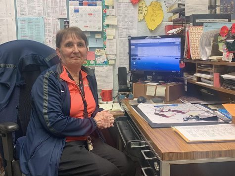Golden Girl - Mrs. Linda Law is working as hard as ever in her golden anniversary of her first year at NP. in her 50th year with the district, Law has certainly had a front row seat for the challenges of pandemic era school and athletics.