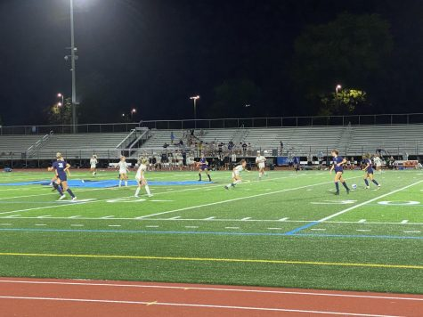 KIcking into the Night - The Np Knights girls soccer team takes on CB East at Crawford Stadium.