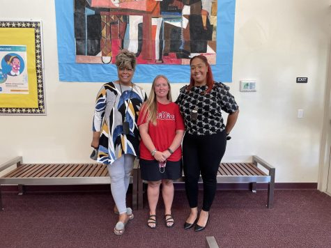 (From left to right) Ms.Kelly Chappell, Ms. Kristen Meitzler, and Mrs. Christina Carter at A.M. Kulp