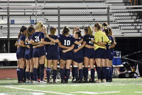 The North Penn Girls Soccer team prepping before their Senior Night game.
